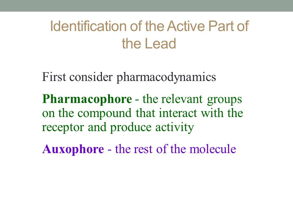 Identification of the Active Part of the Lead