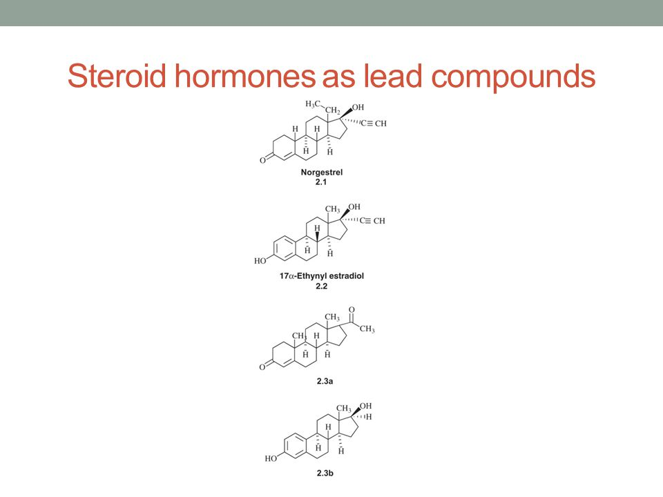 Steroid hormones as lead compounds