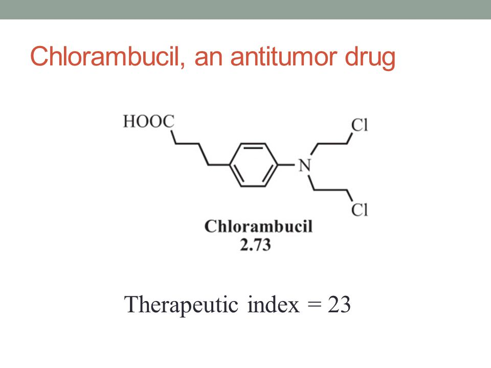 Chlorambucil, an antitumor drug