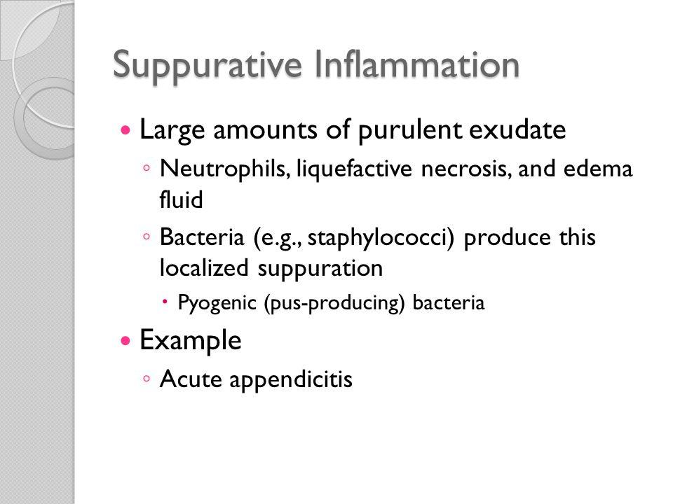 Suppurative Inflammation