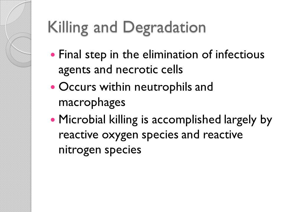 Killing and Degradation