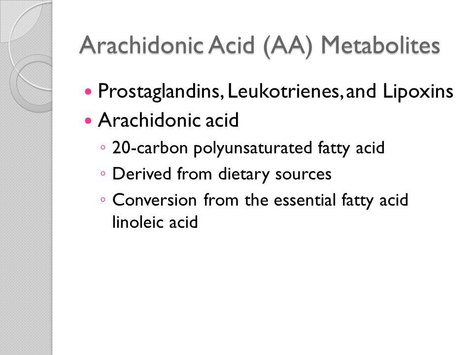 Arachidonic Acid (AA) Metabolites