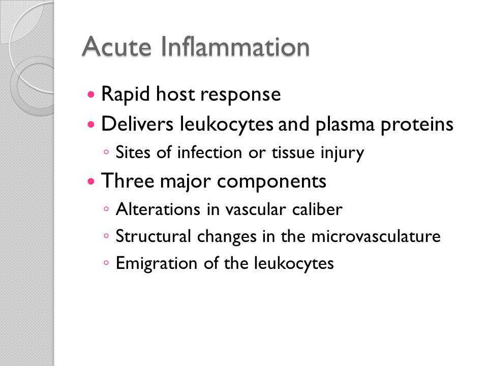 Acute Inflammation Rapid host response