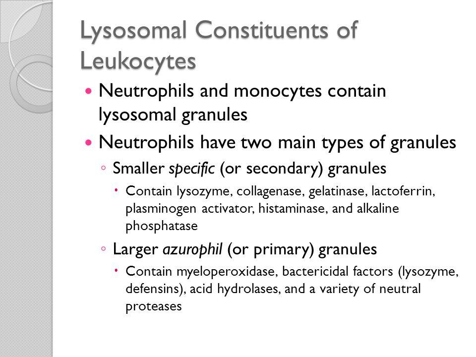 Lysosomal Constituents of Leukocytes