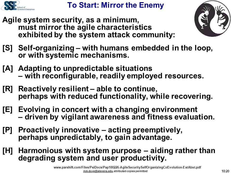 To Start: Mirror the Enemy