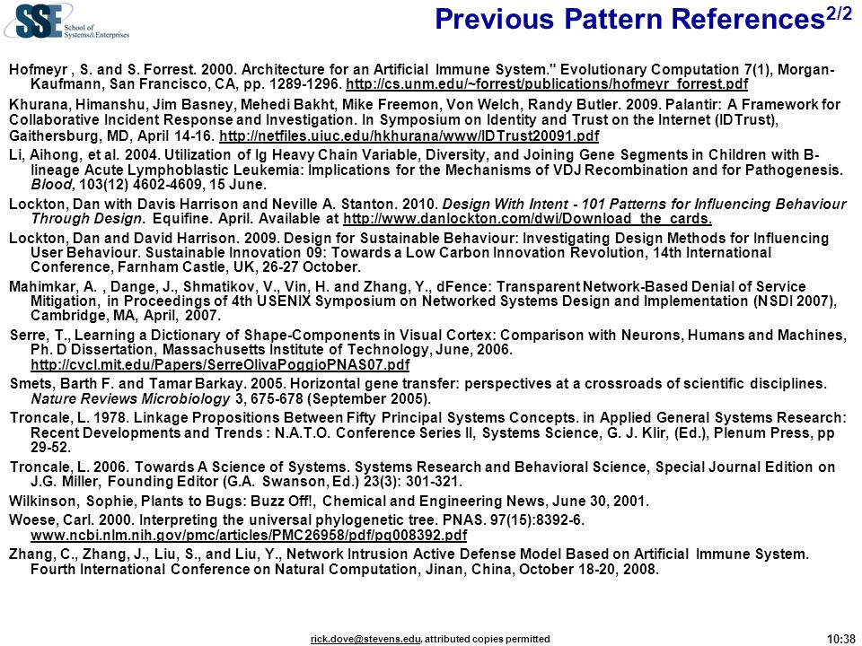 Previous Pattern References2/2