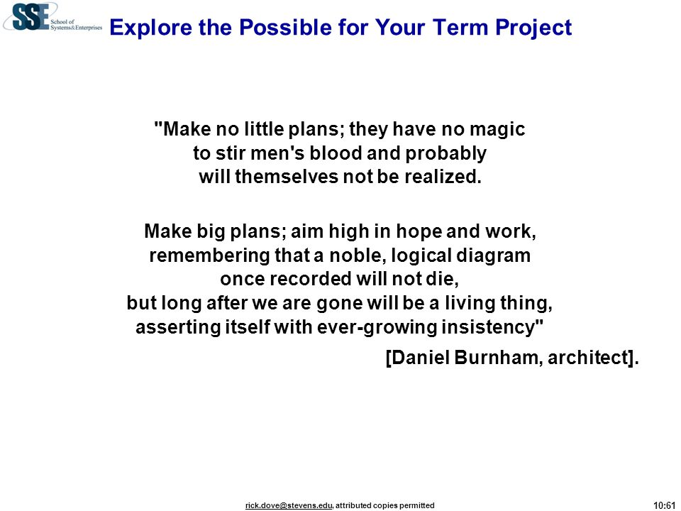 Explore the Possible for Your Term Project