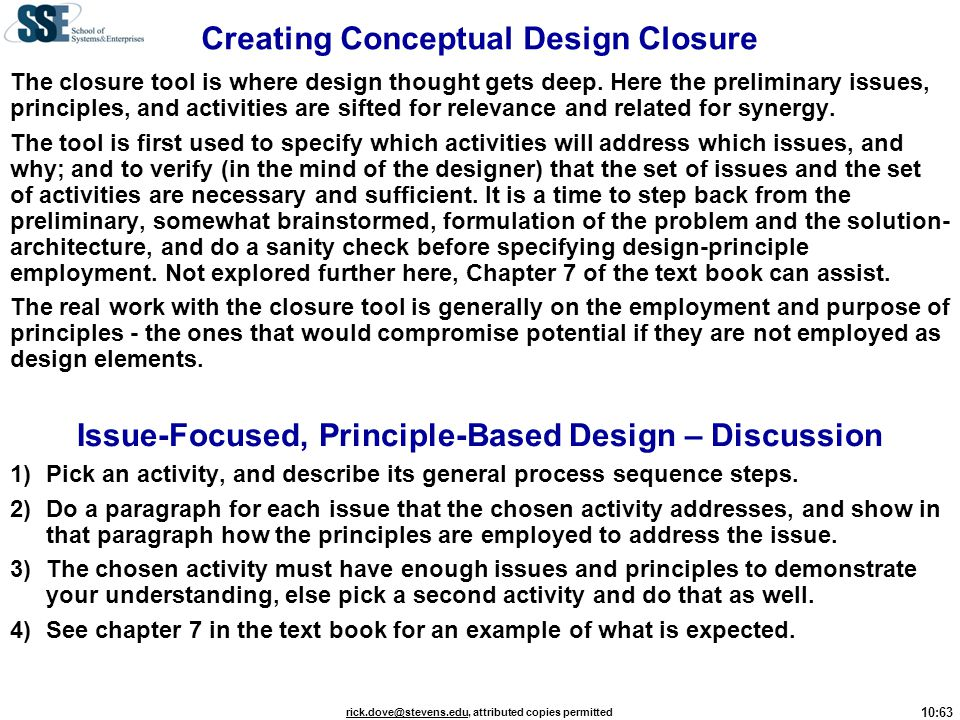 Creating Conceptual Design Closure