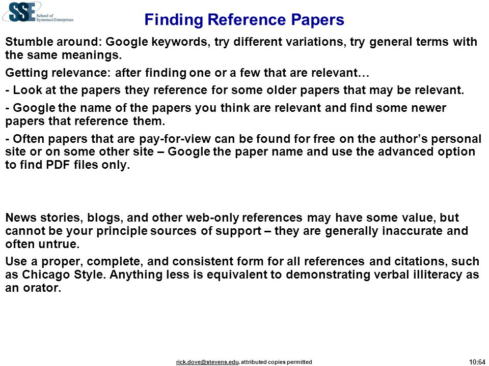 Finding Reference Papers