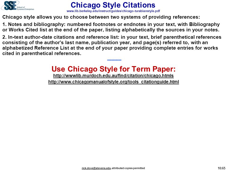 Chicago Style Citations www. lib. berkeley