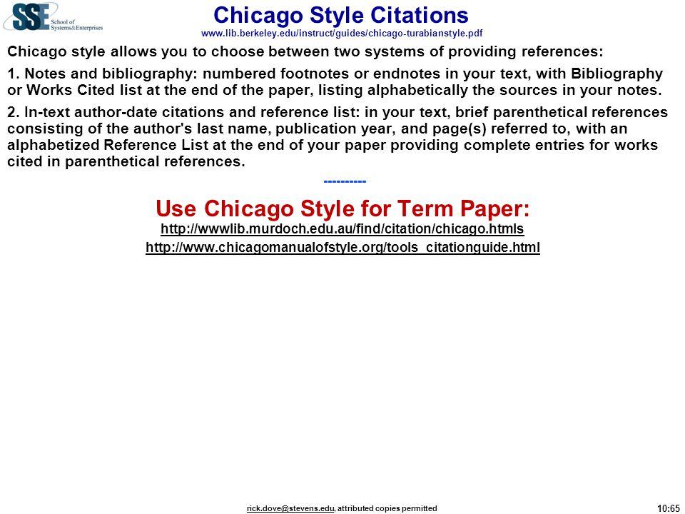 Chicago Style Citations www. lib. berkeley