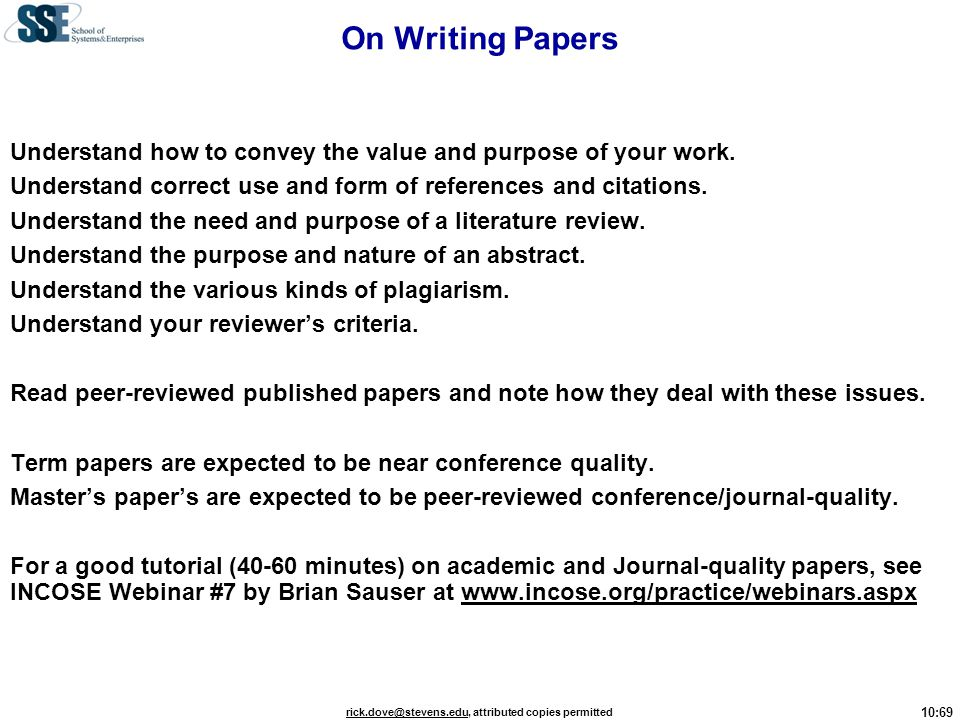 On Writing Papers