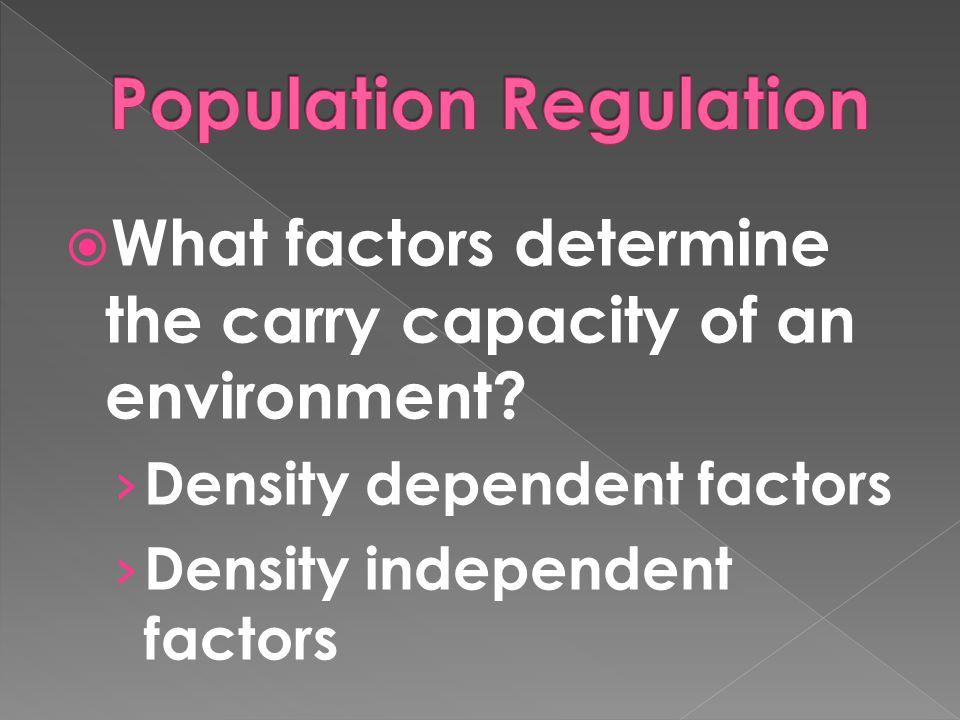 Population Regulation