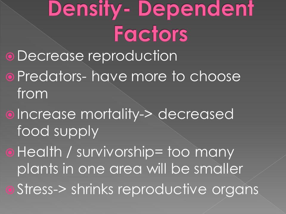 Density- Dependent Factors