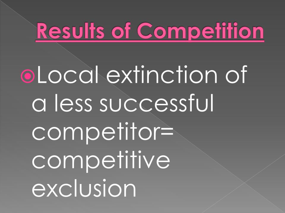 Results of Competition