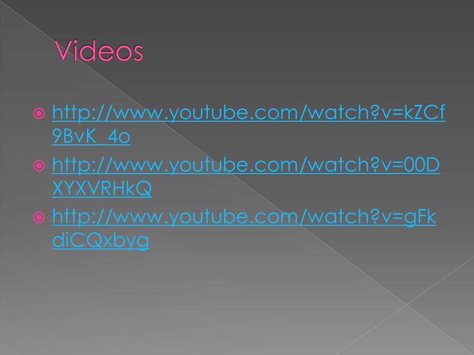 Videos http://www.youtube.com/watch v=kZCf9BvK_4o