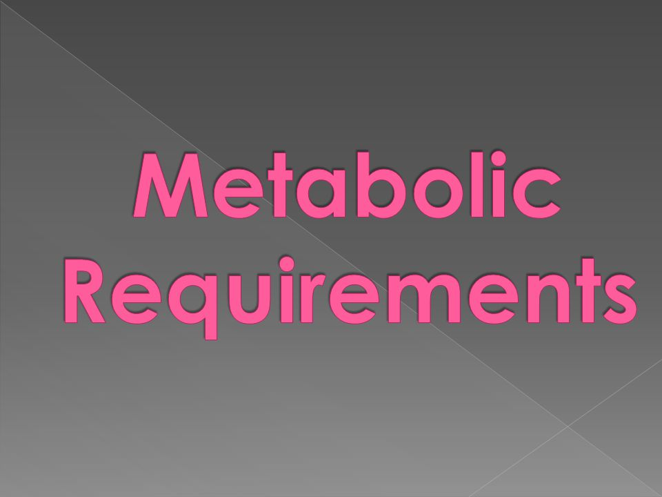 Metabolic Requirements