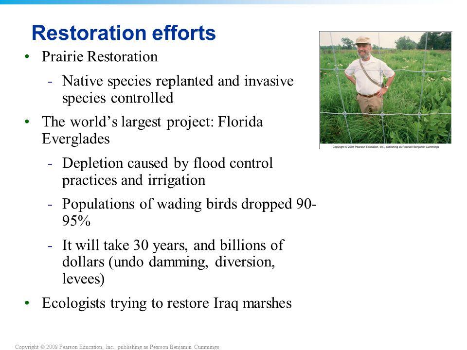 Restoration efforts Prairie Restoration