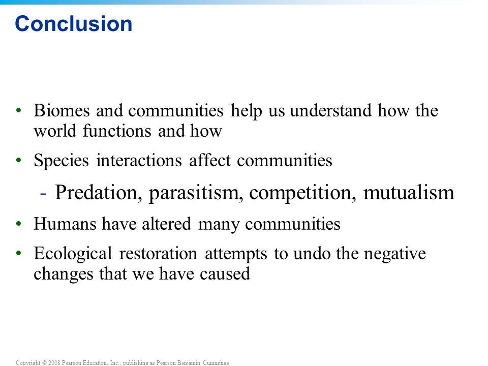 Predation, parasitism, competition, mutualism