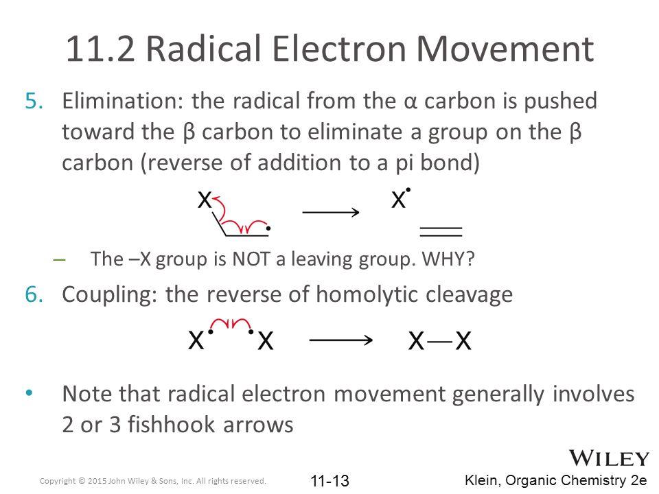 11.2 Radical Electron Movement