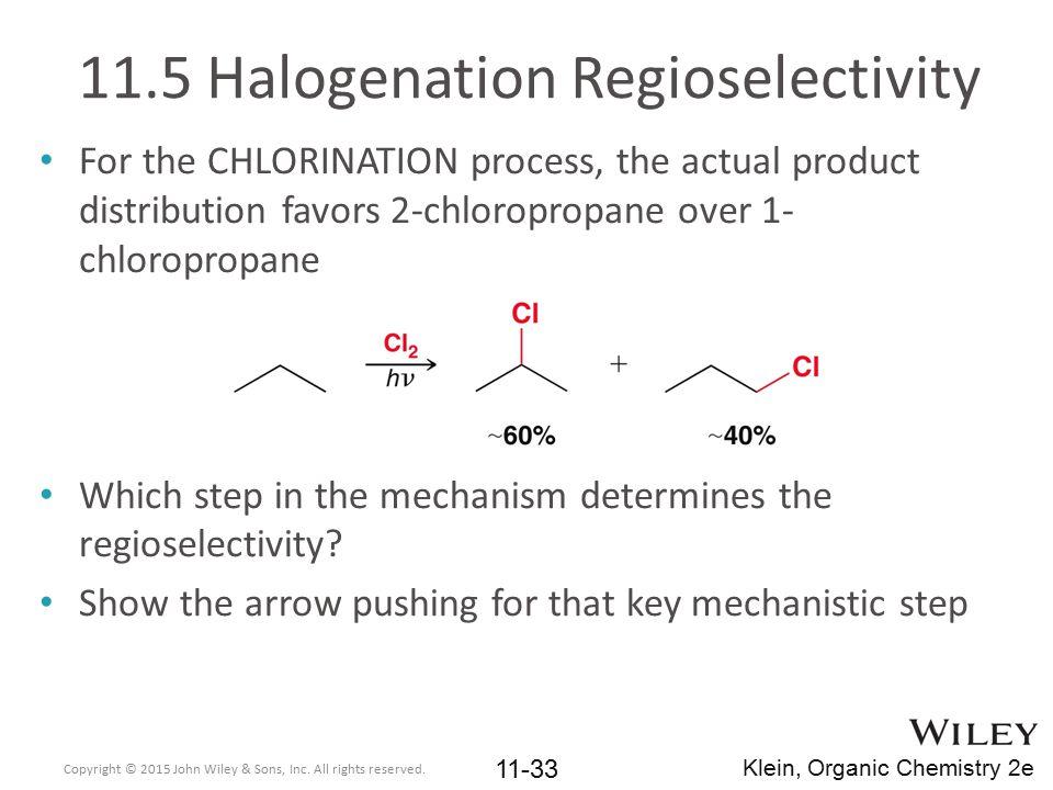 11.5 Halogenation Regioselectivity