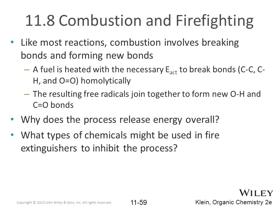 11.8 Combustion and Firefighting
