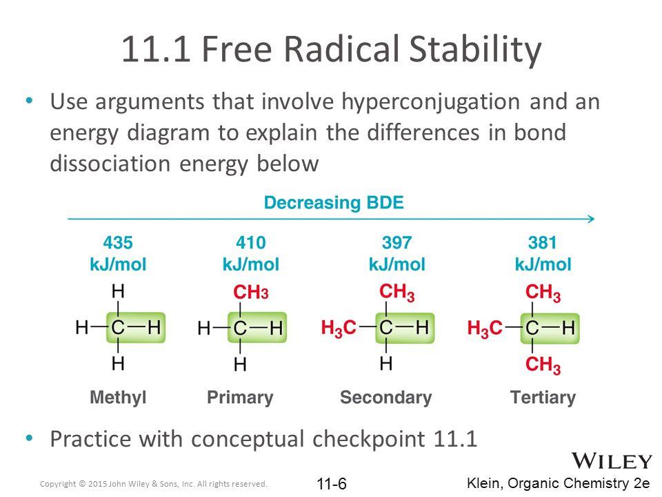 11.1 Free Radical Stability