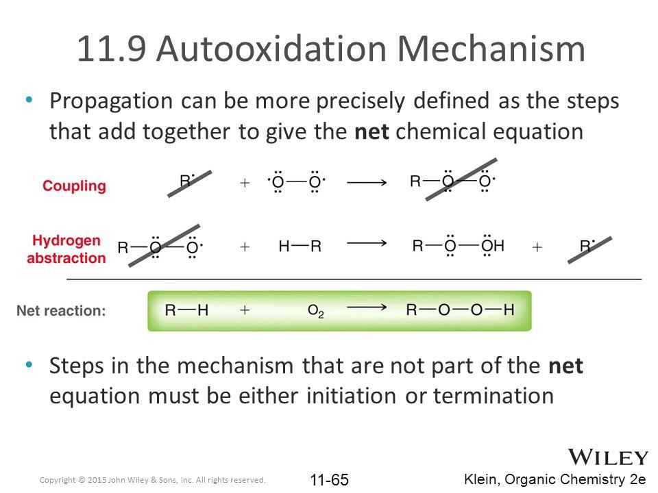 11.9 Autooxidation Mechanism