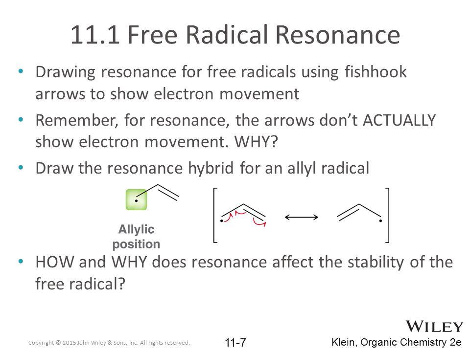 11.1 Free Radical Resonance