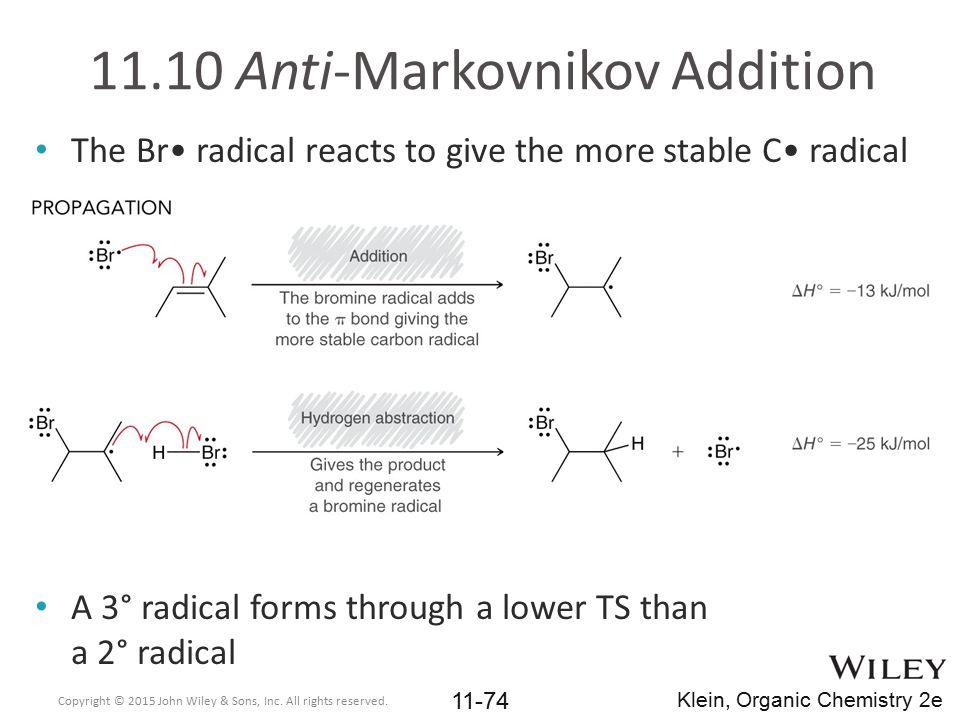 11.10 Anti-Markovnikov Addition
