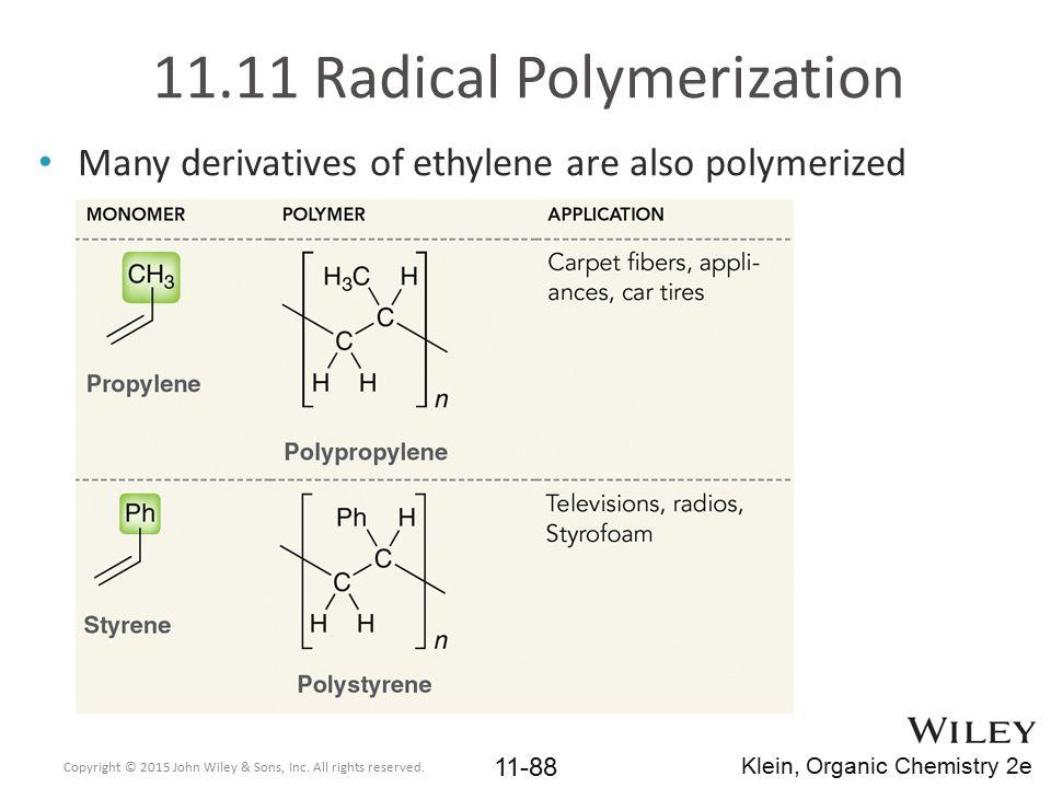 11.11 Radical Polymerization
