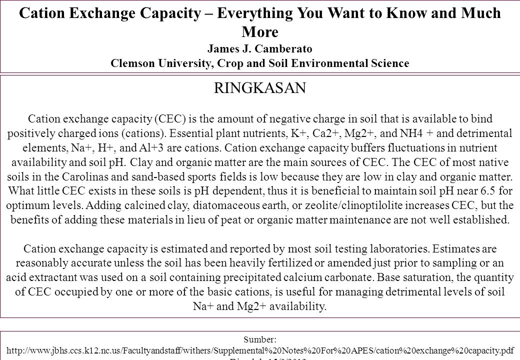 Cation Exchange Capacity – Everything You Want to Know and Much More