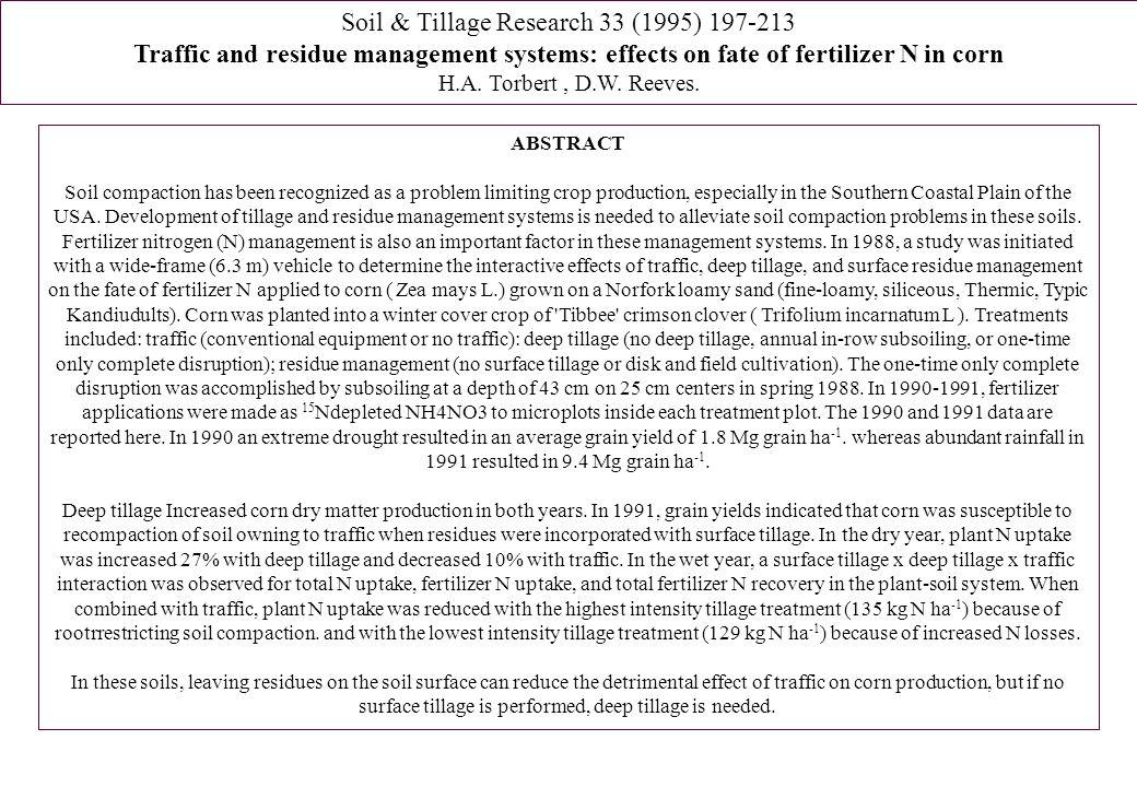 Soil & Tillage Research 33 (1995) 197-213