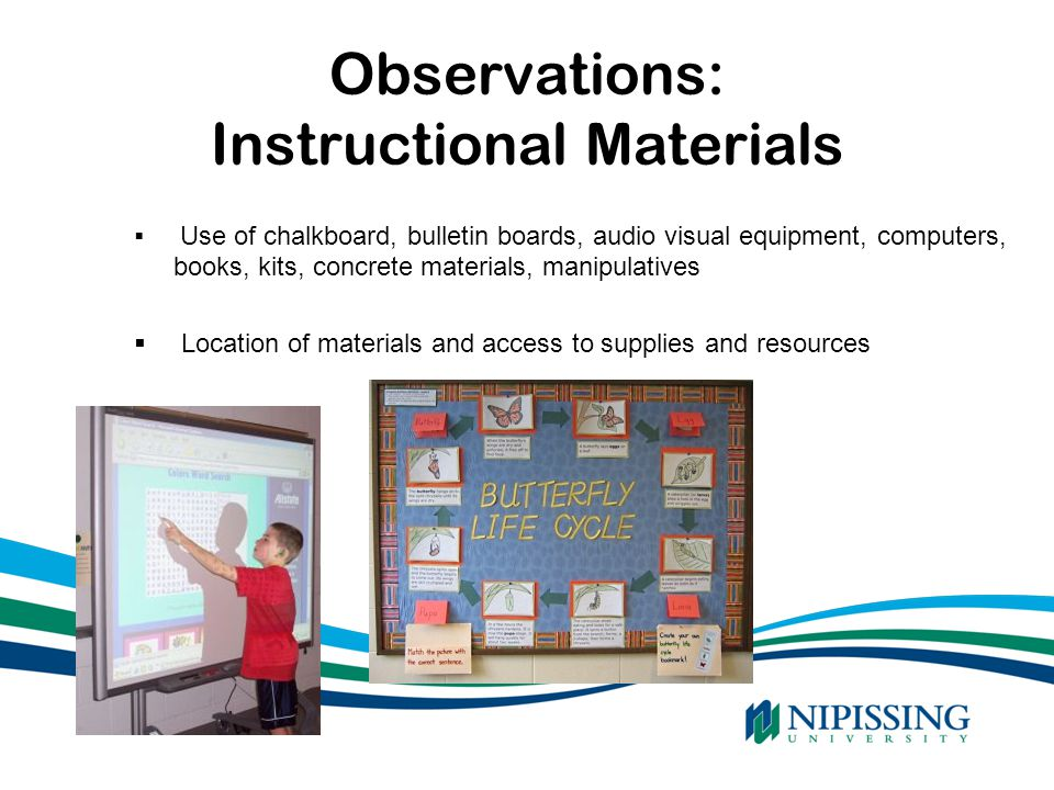 Observations: Instructional Materials