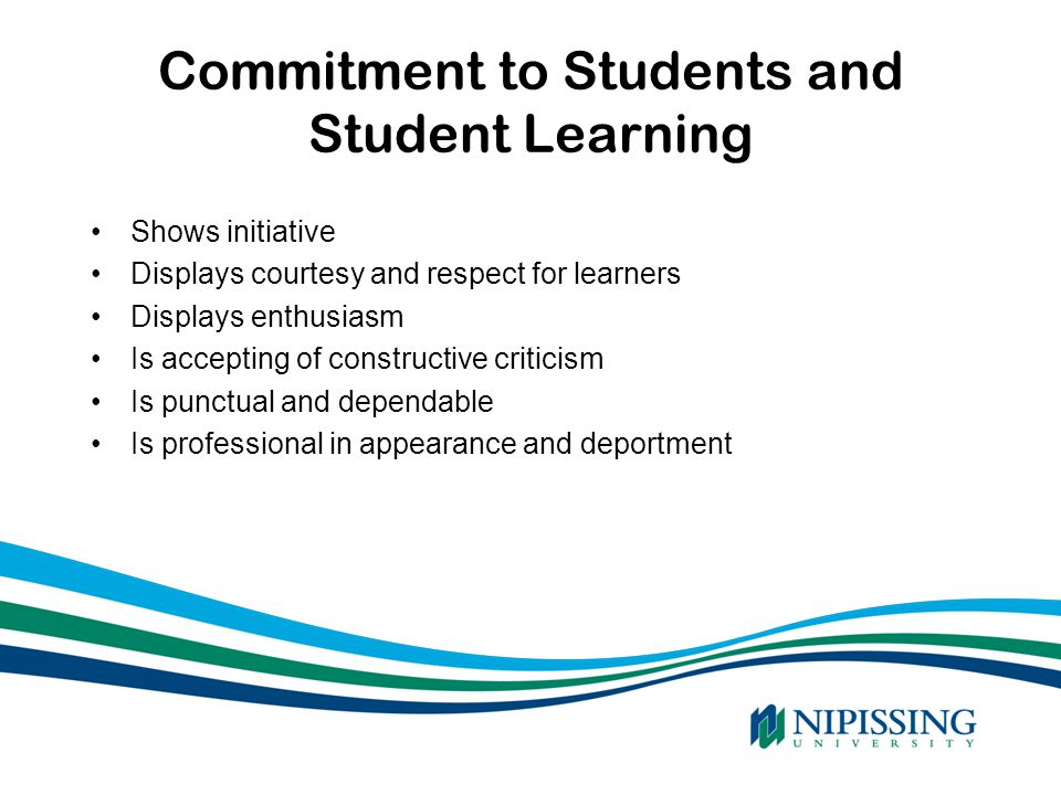 Commitment to Students and Student Learning