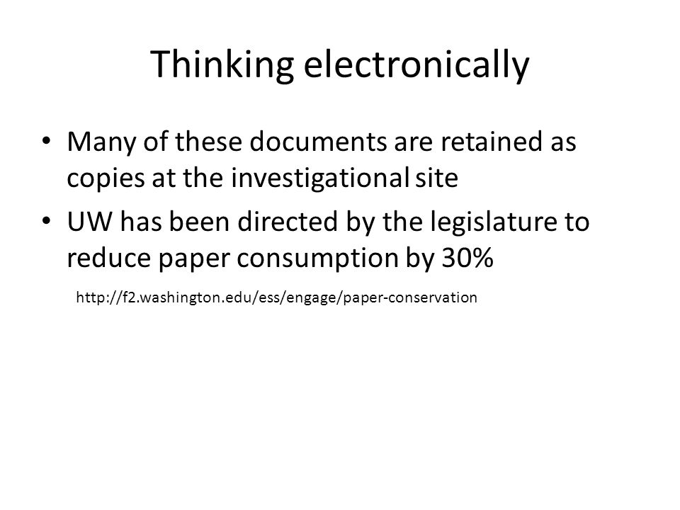 Thinking electronically