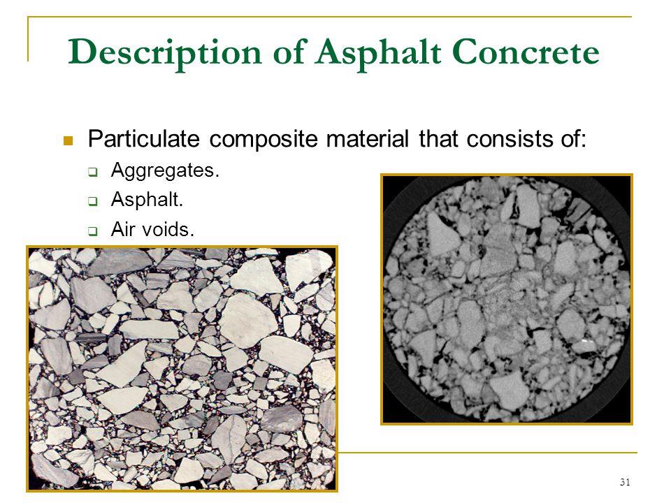 Description of Asphalt Concrete