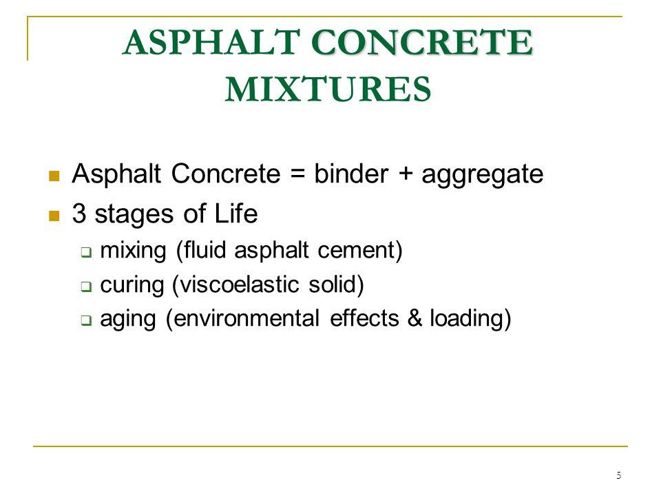 ASPHALT CONCRETE MIXTURES
