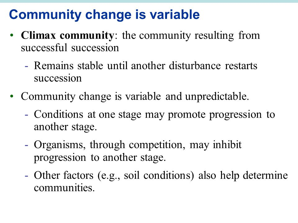 Community change is variable
