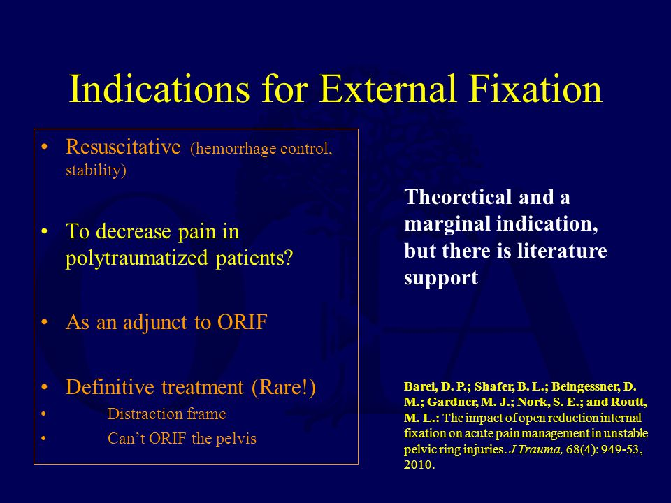 Indications for External Fixation