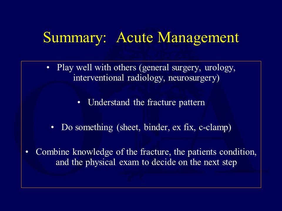 Summary: Acute Management