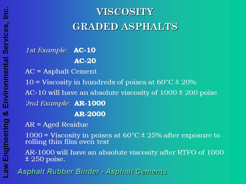 Asphalt Rubber Binder - Asphalt Cements
