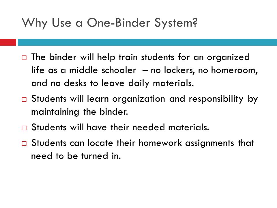 Why Use a One-Binder System