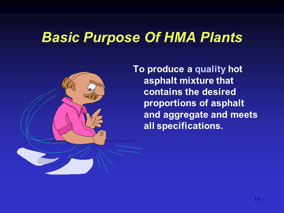 Basic Purpose Of HMA Plants