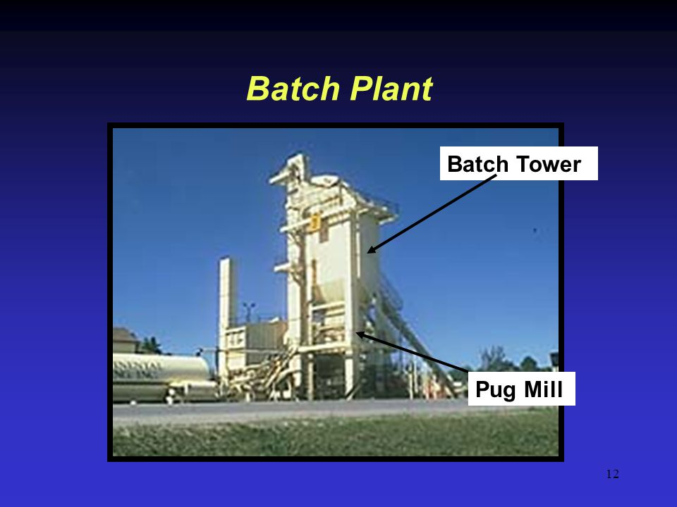 Batch Plant Batch Tower Pug Mill