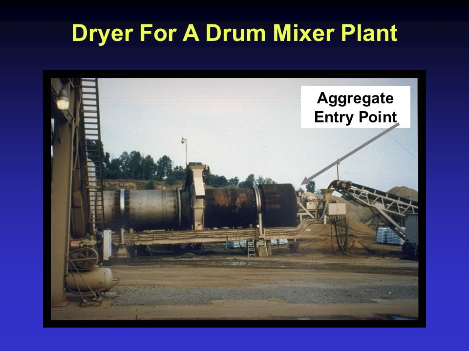 Dryer For A Drum Mixer Plant