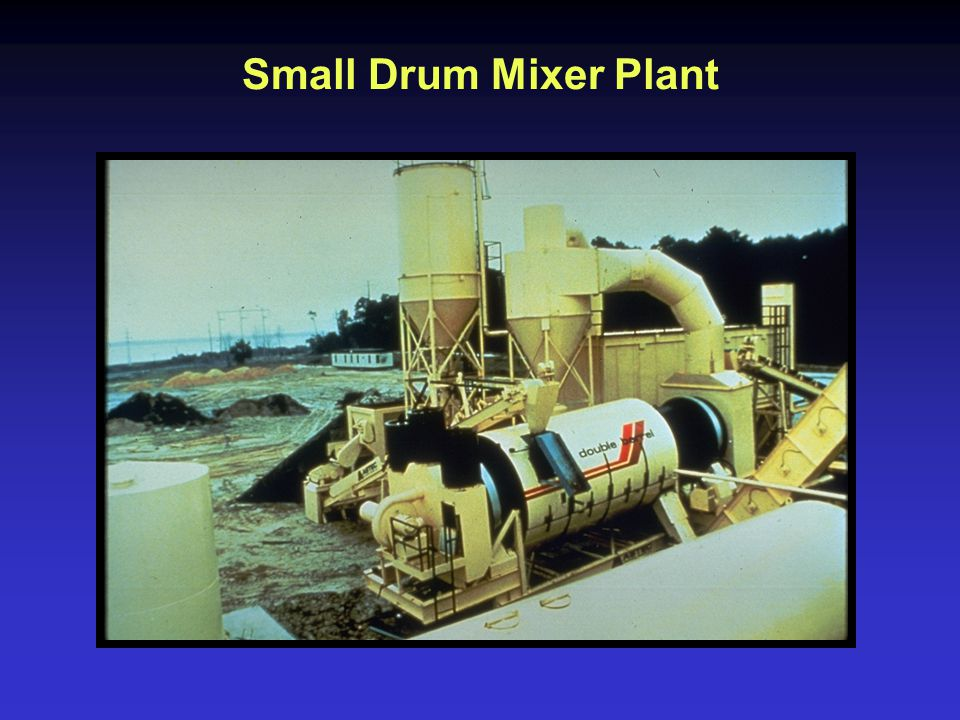 Small Drum Mixer Plant