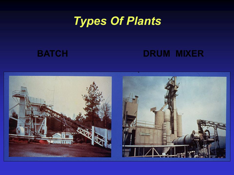 Types Of Plants BATCH DRUM MIXER