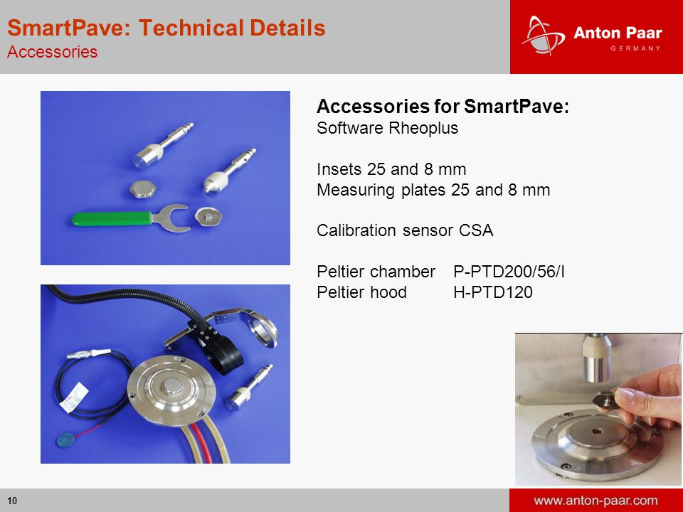 SmartPave: Technical Details Accessories