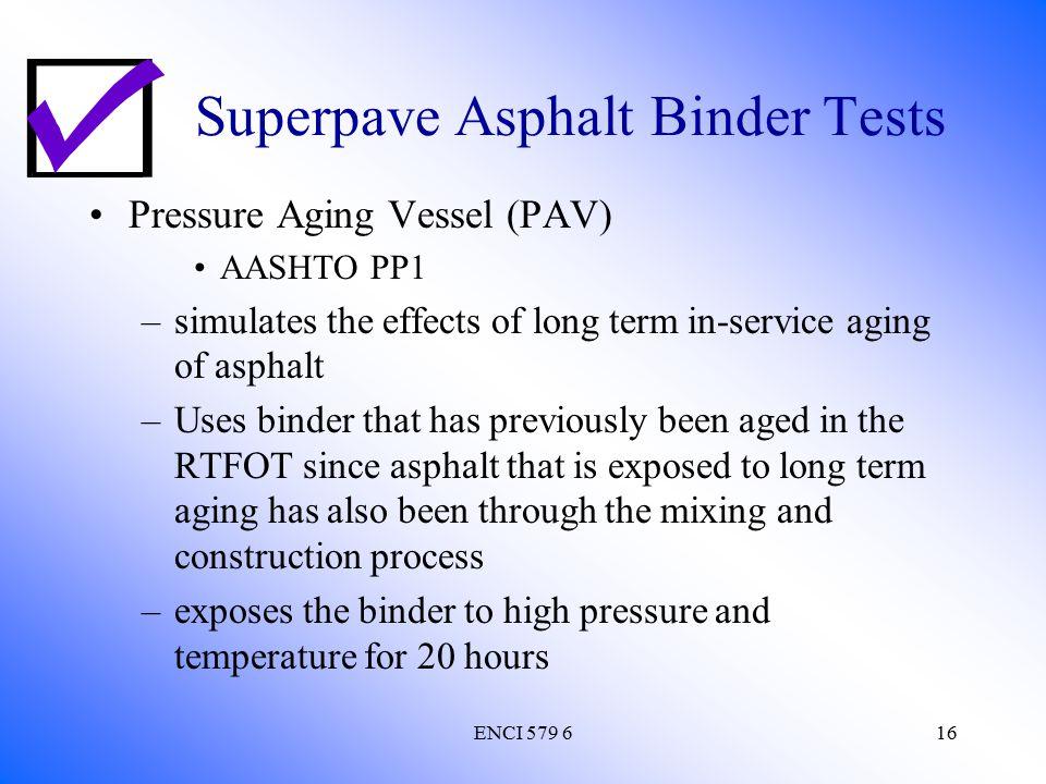 Superpave Asphalt Binder Tests